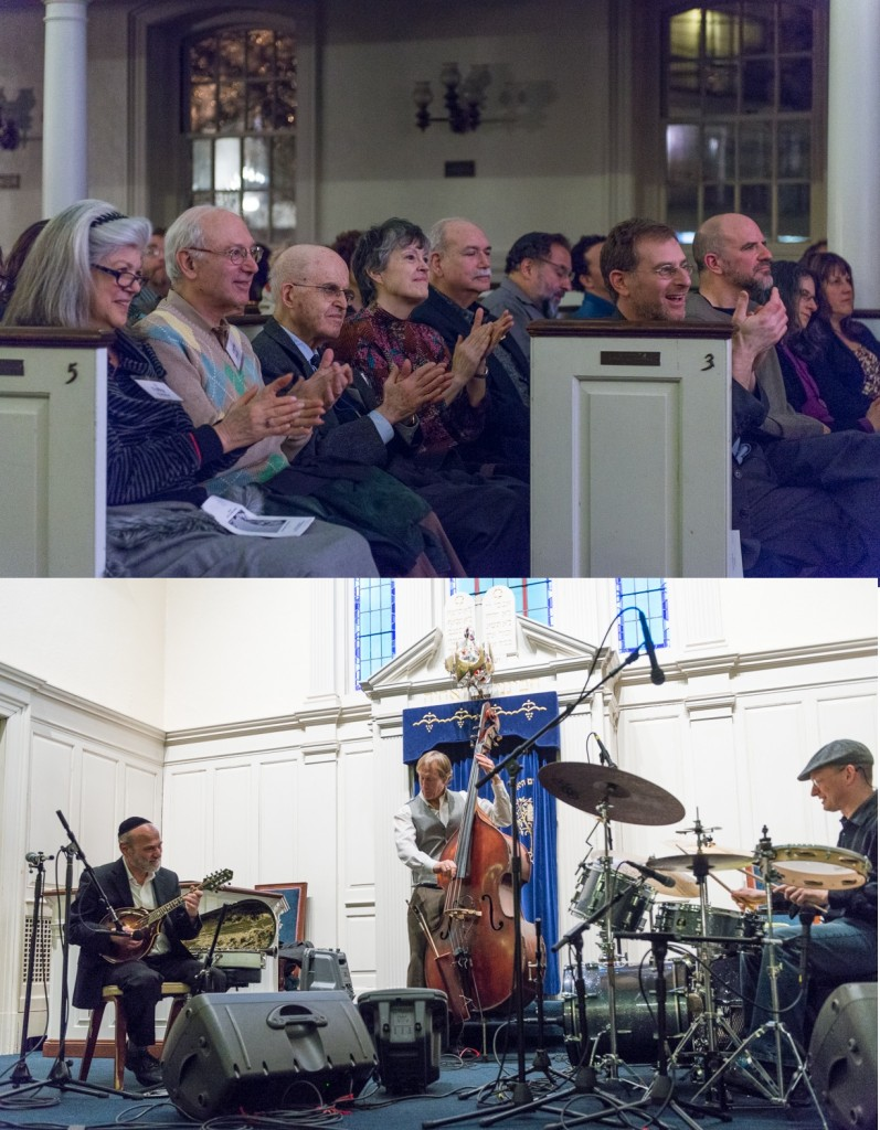 Temple Sinai members enjoy the Andy Statman Trio, who performed at the 2014 Passover Music Festival.  (Photos by Jim Kaye)